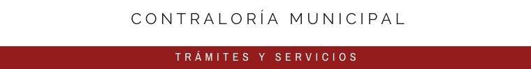 CONTRALORÍA MUNICIPAL