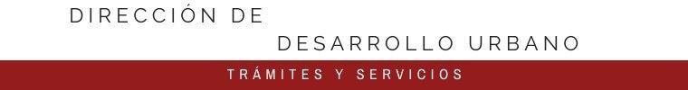DIRECCIÓN DE DESARROLLO URBANO