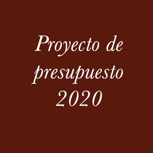 Proyecto de Presupuesto 2020