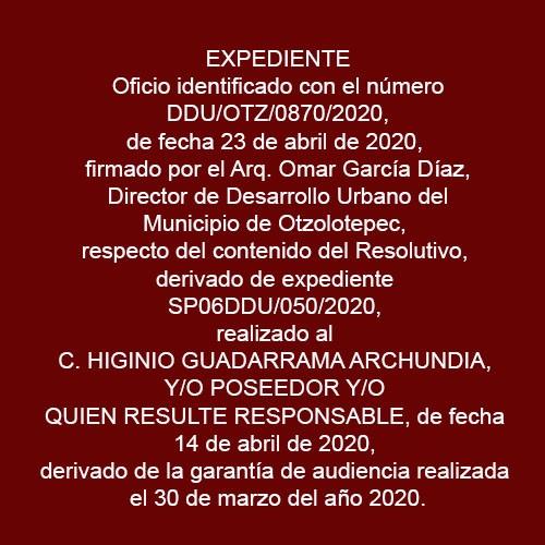 DDU/OTZ/0770/2020