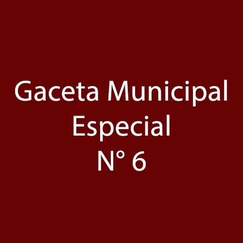 Gaceta Especial 6