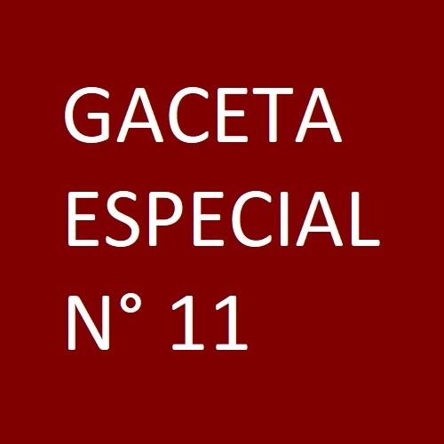 Gaceta Especial 11